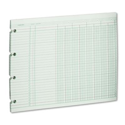 Accounting Sheets, Eight Column, 9-1/4 x 11-7/8, 100 Loose Sheet