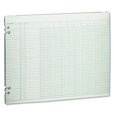 Accounting Sheets, 10 Columns, 11 x 14, 100 Loose Sheets/Pack, G