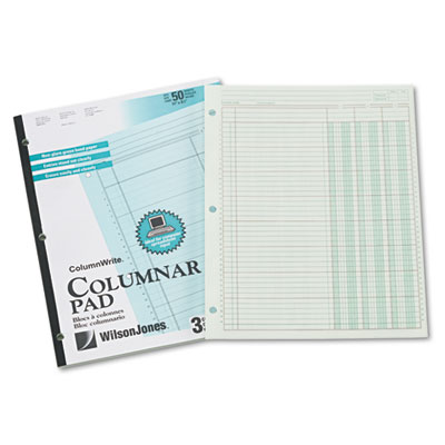 Accounting Pad, Three Eight-Unit Columns, 8-1/2 x 11, 50-Sheet P