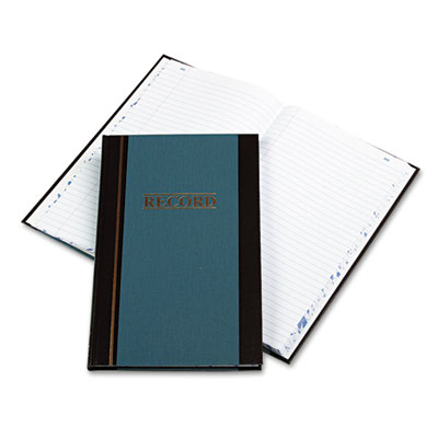 Account Book, Blue Hardcover, 150 Pages, 11 3/4 x 7 1/4