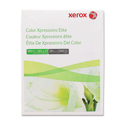 Color Xpressions Elite Paper, 100 Brightness, 28lb, 8-1/2 x 11,