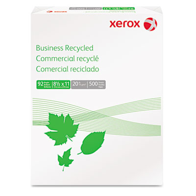 Business Recycled Copy Paper, 92 Bright, 20lb, 8-1/2 x 11, White
