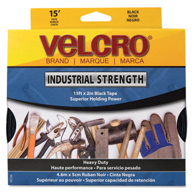 "Industrial Strength Sticky-Back Hook and Loop Fasteners, 2"" x 15"