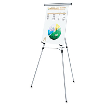 "3-Leg Telescoping Easel with Pad Retainer, Adjusts 34"" to 64"", A"