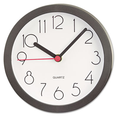 "Cubicle Clock, 6"", Black"