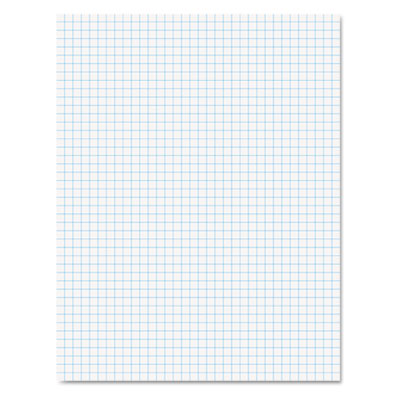 20lb Quadrille Pad w/4 Squares/Inch, Ltr, White, 1 50-Sheet Pad