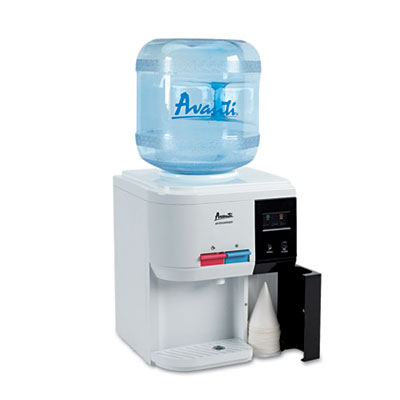 "Tabletop Thermoelectric Water Cooler, 13 1/4"" dia. x 15 3/4h, Wh"