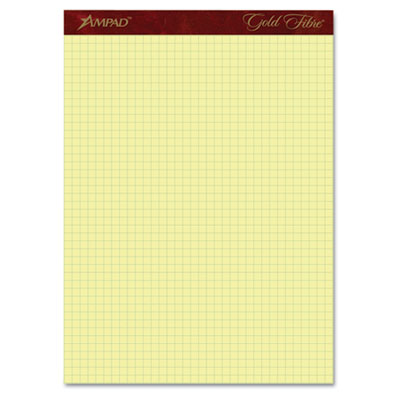 Gold Fibre Canary Quadrille Pad, 8-1/2 x 11-3/4, Canary, 50 Shee