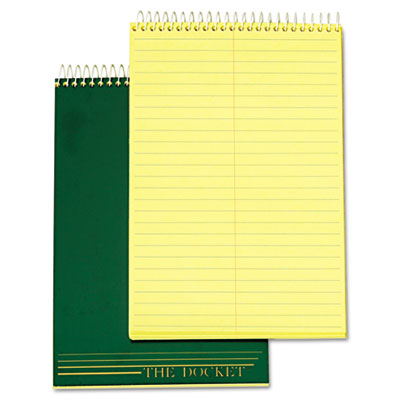 Docket Steno Pad, Gregg Rule, 6 x 9, Canary, 100 Sheets