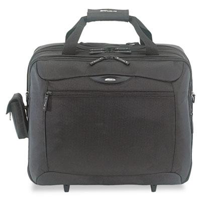 CityGear Rolling Travel Laptop Case, Nylon, 18 x 10 x 15, Black