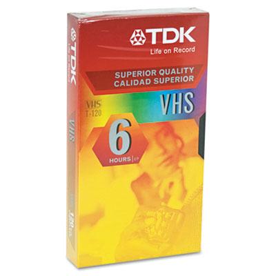 Standard Grade VHS Videotape Cassette, 6 Hours