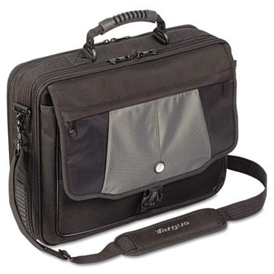 "Blacktop 17"" Deluxe Laptop Case, Polyester, 18-1/2 x 5-1/2 x 16-"