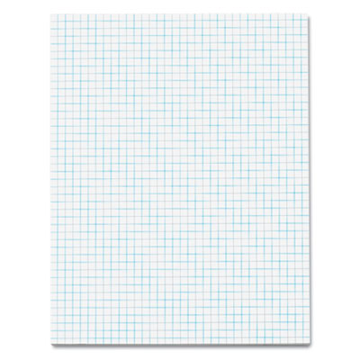 Quadrille Pads, 4 Squares/inc, 8-1/2 x 11, White, 50 Sheets