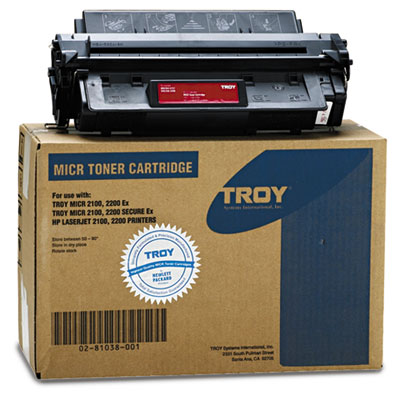 0281038001 96A Compatible MICR Toner, 5,000 Page-Yield, Black
