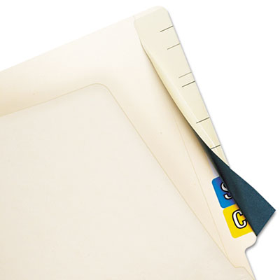 Cov'R'Tab Self-Adhesive Color Code Cover, 2-1/2 x 8, Manila, 50/