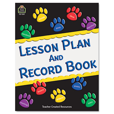 Paw Prints Lesson Plan & Record Book With Monthly Planner, 160 P