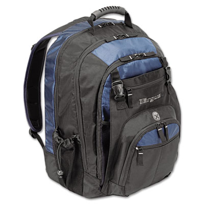 """17"""" Laptop Backpack, File Compartment, Audio Player Sleeve, Blac"""