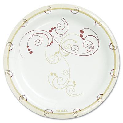 "Symphony Paper Dinnerware, Mediumweight Plate, 8 1/2"" Round, Tan"