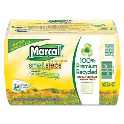 100% Recycled Convenience Bundle Bathroom Tissue Roll, 168 Sheet