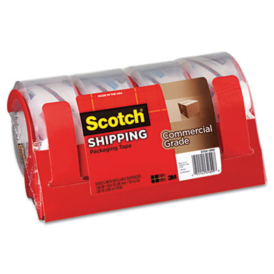 "3750 Commercial Grade Packaging Tape w/Dispenser, 1.88"" x 54.6yd"