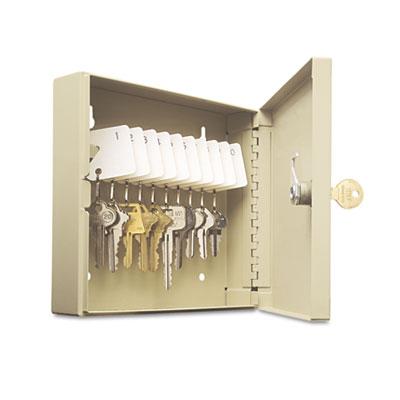 Uni-Tag Key Cabinet, 10-Key, Steel, Sand, 16 1/2 x 4 7/8 x 20 1/