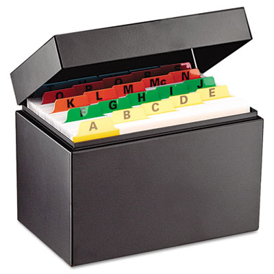 Index Card File Holds 500 4 x 6 cards, 6 3/4 x 4 1/5 x 5