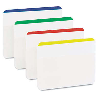 Durable File Tabs, 2 x 1 1/2, Striped, Assorted Standard Colors,