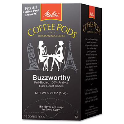 Coffee Pods, Buzzworthy (Dark Roast), 18 Pods/Box
