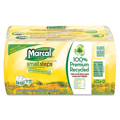 100% Recycled Convenience Bundle Bathroom Tissue, 4 Rolls/Pack,