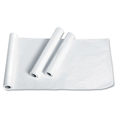 "Exam Table Paper, Deluxe Smooth, 18"" x 225ft, White, 12 Rolls/Ca"