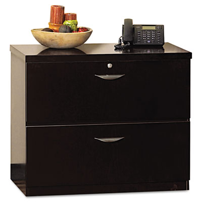 Mira Series Wood Veneer Two-Drawer Lateral File, 34-1/2 x 24 x 2