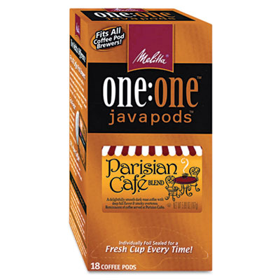 One:One Coffee Pods, Parisian Cafe, 18 Pods/Box