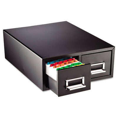 "Drawer Card Cabinet Holds 3,000 3 x 5 cards, 12 5/16"" x 16"" x 5"
