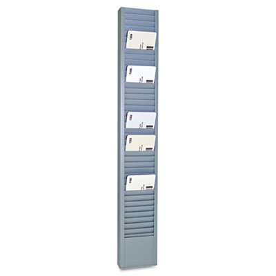 "40-Pocket Steel Swipe Card/Badge Rack, 2-15/16"" x 18-11/16"""