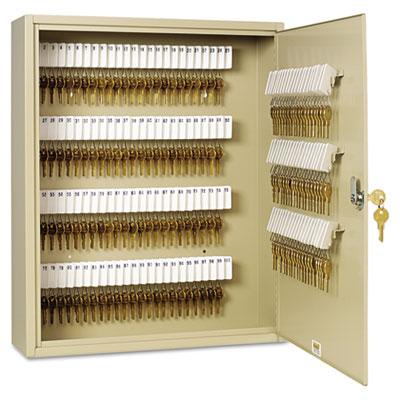 Uni-Tag Key Cabinet, 200-Key, Steel, Sand, 16 1/2 x 4 7/8 x 20 1