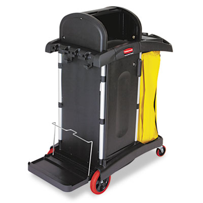 High-Security Healthcare Cleaning Cart, 22w x 48-1/4d x 53-1/2h,