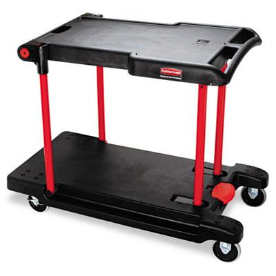 Convertible Utility Cart, Two-Shelf, 23-5/8w x 45-1/4d x 34-3/8h
