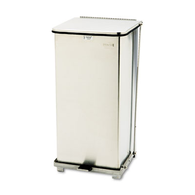 Defenders Biohazard Step Can, Square, Steel, 24gal, Stainless St