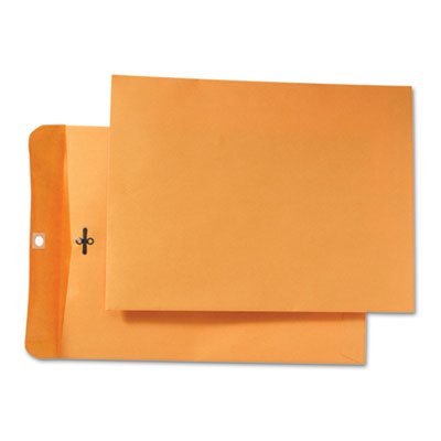 Park Ridge Kraft Clasp Envelope, 9 x 12, Brown Kraft, 100/Box