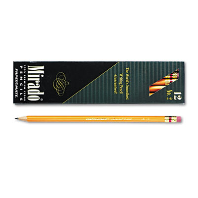 Mirado Woodcase Pencil, HB #2, Yellow Barrel, Dozen
