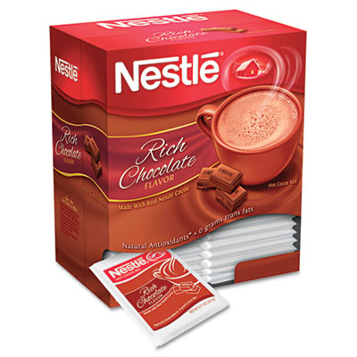 Instant Hot Cocoa Mix, Rich Chocolate, .71oz, 50/Box