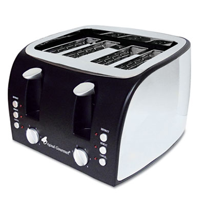 4-Slice Multi-Function Toaster with Adjustable Slot Width, Black