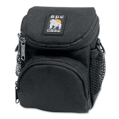 AC165 Case for Cameras, Ballistic Nylon, 4 1/4 x 4 x 5 1/2, Blac