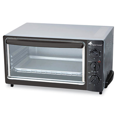Multi-Function Toaster Oven with Multi-Use Pan, 15 x 10 x 8, Bla