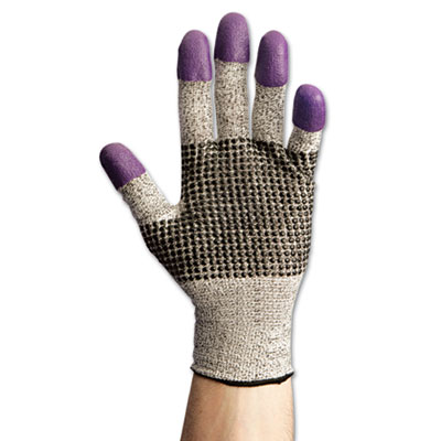 JACKSON SAFETY G60 Purple Nitrile Gloves, Large/Size 9, Black/Wh