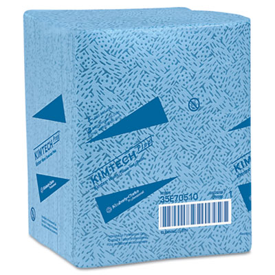 KIMTECH PREP KIMTEX Wipers, 1/4-Fold, 12 1/2 x 13, Blue, 66/Box,