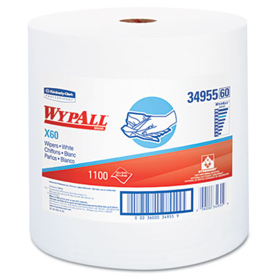 WYPALL X60 Wipers, Jumbo Roll, 12 1/2 x 13 2/5, 1100 Towels/Roll
