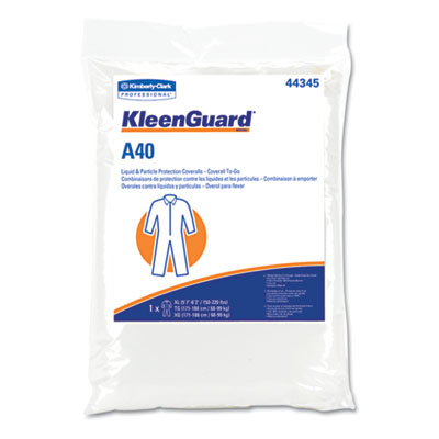 KLEENGUARD A40 Coverall To-Go, Microporous Film Laminate, 2XL, W