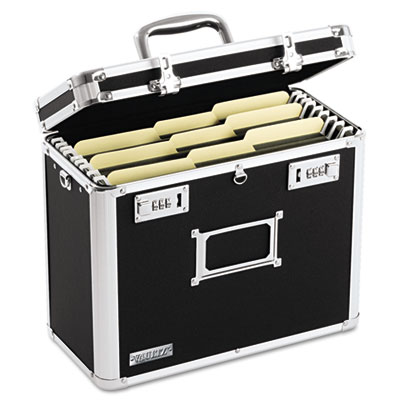 Locking File Tote Storage Box, Letter, 13-3/4 x 7-1/4 x 12-1/4,