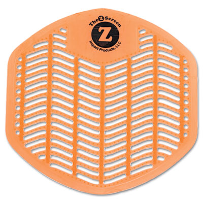 Z-Screen Deodorizing Urinal Screen, Citrus Zest, Orange, 12/Box
